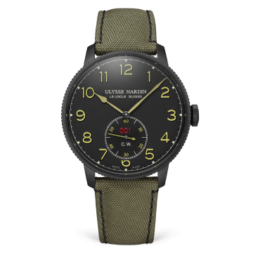 Marine Torpilleur Military 44 mm - 1183-320LE/BLACK