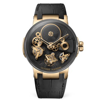 Tourbillon Free Wheel 44 mm - 1766-176LE/STRAW