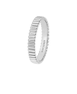 QUATRE GROSGRAIN WHITE GOLD WEDDING BAND - JAL01170