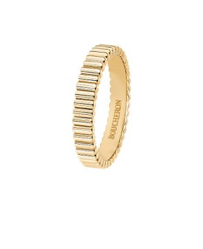 QUATRE GROSGRAIN YELLOW GOLD WEDDING BAND - JAL01169