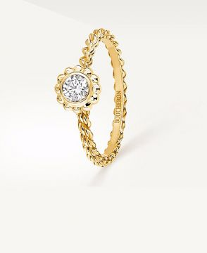 SERPENT BOHÈME GOLD BEADS SOLITAIRE - JSL00165