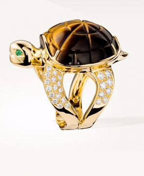 HONU, THE TURTLE RING TIGER'S EYE - JRG01822