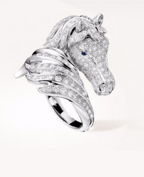 PÉGASE, THE HORSE RING DIAMONDS - JRG01816
