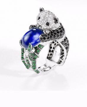 BILADOM, THE PANDA RING BLUE SAPPHIRE - JRG02154