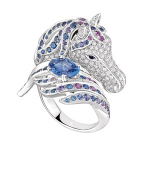 PÉGASE, THE HORSE RING BLUE SAPPHIRE - JRG02102