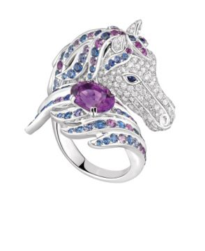 PÉGASE, THE HORSE RING AMETHYST - JRG02101
