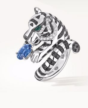 BAGHA, THE TIGER RING BLUE SAPPHIRE - JRG02105