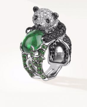 BILADOM, THE PANDA RING EMERALD - JRG02153