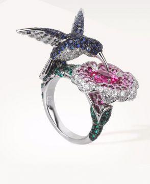 HOPI, THE HUMMINGBIRD RING PINK SAPPHIRE - JRG02155
