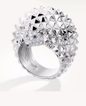 HANS, THE HEDGEHOG RING, DIAMONDS - JRG02231