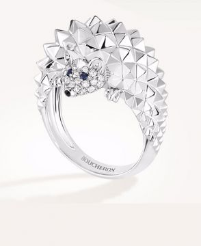 HANS, THE HEDGEHOG RING, DIAMONDS - JRG02199