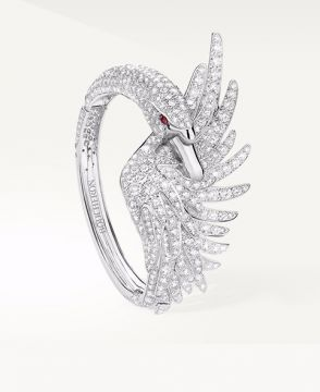 CYPRIS, THE SWAN BRACELET DIAMONDS - JTB00587