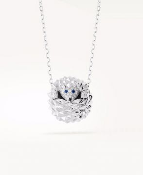 HANS, THE HEDGEHOG PENDANT, DIAMONDS - JPN00509