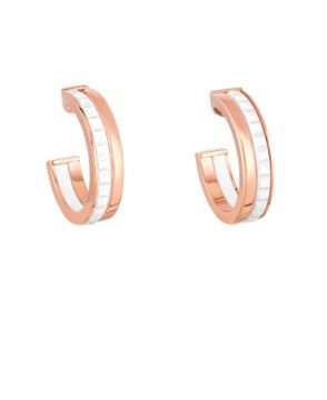 QUATRE WHITE EDITION HOOP EARRINGS - JCO01017