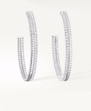 QUATRE RADIANT EDITION HOOP EARRINGS - JCO01129