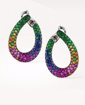 MASY, THE CHAMELEON HOOP EARRINGS - JCO00688