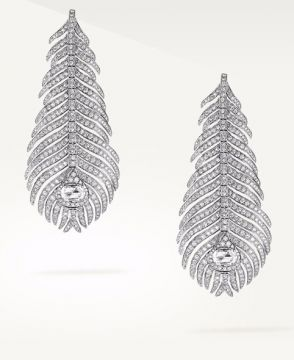 PLUME DE PAON PENDANT EARRINGS - JCO01073