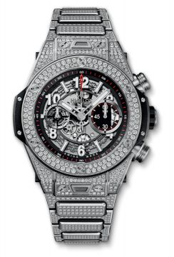 BIG BANG UNICO TITANIUM PAVÉ BRACELET 45 mm - 411.NX.1170.NX.3704