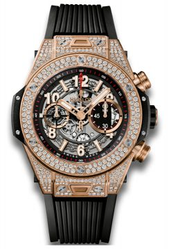 BIG BANG UNICO KING GOLD PAVÉ 45 mm - 411.OX.1180.RX.1704
