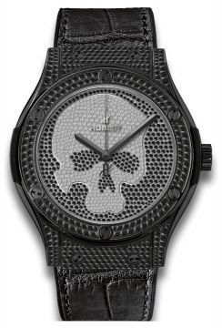 CLASSIC FUSION SKULL BLACK FULL PAVÉ 45 mm - 511.ND.9100.LR.1700.SKULL