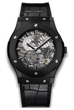 CLASSIC FUSION ULTRA-THIN SKELETON ALL BLACK 45 mm - 515.CM.0140.LR