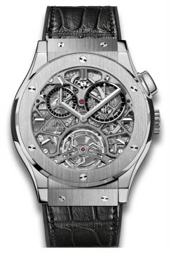 CLASSIC FUSION TOURBILLON SKELETON TITANIUM 45 mm - 506.NX.0170.LR