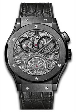 CLASSIC FUSION TOURBILLON SKELETON ALL BLACK 45 mm -  506.CM.0140.LR