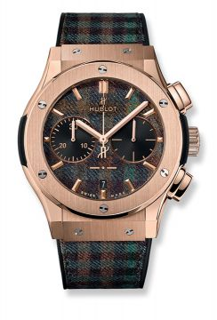 CLASSIC FUSION CHRONOGRAPH ITALIA INDEPENDENT TARTAN KING GOLD 45 mm - 521.OX.2705.NR.ITI17
