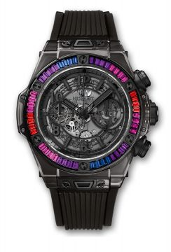 BIG BANG UNICO ALL BLACK SAPPHIRE GALAXY 45 mm - 411.JB.4901.RT.4098