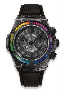BIG BANG UNICO ALL BLACK SAPPHIRE RAINBOW 45 mm - 411.JB.4901.RT.4099