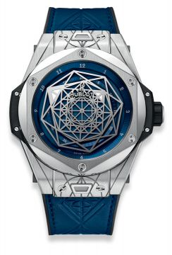 BIG BANG SANG BLEU TITANIUM BLUE 45 mm - 415.NX.7179.VR.MXM18