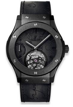 CLASSIC FUSION TOURBILLON POWER RESERVE 5 DAYS BERLUTI SCRITTO ALL BLACK 45 mm - 505.CM.0500.VR.BER17