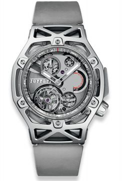 TECHFRAME FERRARI TOURBILLON CHRONOGRAPH SAPPHIRE WHITE GOLD 45 mm - 408.JW.0123.RX