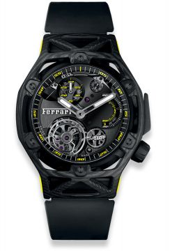 TECHFRAME FERRARI TOURBILLON CHRONOGRAPH CARBON YELLOW 45 mm - 408.QU.0129.RX