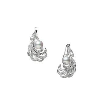 Mikimoto Feather Collection Pierced Earrings - PE-1730PU