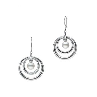 Mikimoto Circle Collection Pierced Earrings - PE-1728PS
