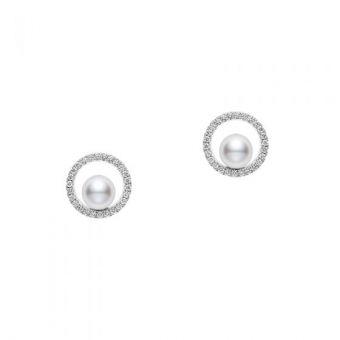 Mikimoto Circle Collection Pierced Earrings - PYE-5501PU