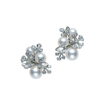 Mikimoto Bloom Collection Pierced Earrings - PE-1503PU