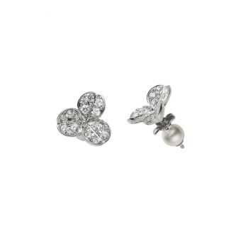 Fortune Leaves Collection Pierced Earrings - PE-1647PU