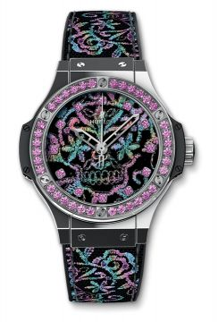 BIG BANG BRODERIE SUGAR SKULL STEEL 41 mm - 343.SS.6599.NR.1233