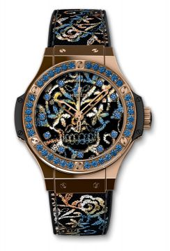 BIG BANG BRODERIE SUGAR SKULL GOLD 41 mm - 343.PS.6599.NR.1201