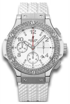BIG BANG STEEL WHITE DIAMONDS 41 mm - 342.SE.230.RW.114