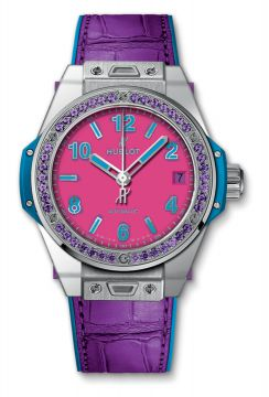 BIG BANG ONE CLICK POP ART STEEL PURPLE 39 mm - 465.SV.7379.LR.1205.POP16