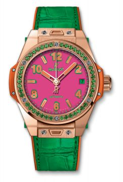 BIG BANG ONE CLICK POP ART KING GOLD APPLE 39 mm - 465.OG.7398.LR.1222.POP16
