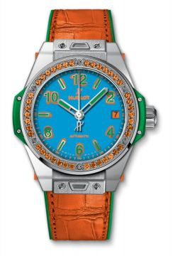 BIG BANG ONE CLICK POP ART STEEL ORANGE 39 mm - 465.SO.5179.LR.1206.POP16