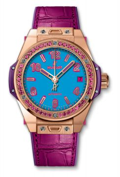BIG BANG ONE CLICK POP ART KING GOLD ROSE 39 mm - 465.OP.5189.LR.1233.POP16