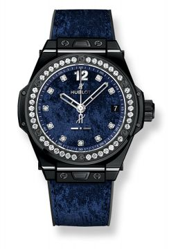 BIG BANG ONE CLICK ITALIA INDEPENDENT DARK BLUE VELVET 39 mm - 465.CS.277J.NR.1204.ITI17