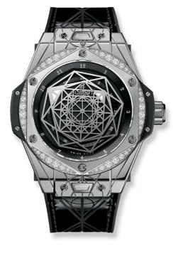 BIG BANG ONE CLICK SANG BLEU STEEL DIAMONDS 39 mm - 465.SS.1117.VR.1204.MXM17