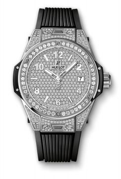 BIG BANG ONE CLICK STEEL FULL PAVÉ 39 mm - 465.SX.9010.RX.1604