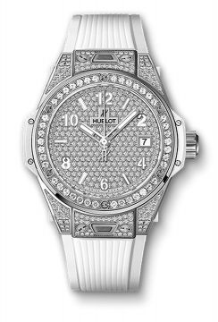 BIG BANG ONE CLICK STEEL WHITE FULL PAVÉ 39 mm - 465.SE.9010.RW.1604